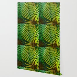 TROPICAL GREENERY LEAVES no9 Wallpaper