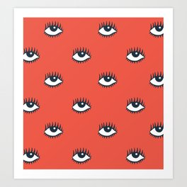 EYES POP Art Print