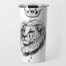 Cecil the Lion Black and White Travel Mug