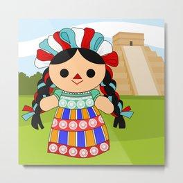 Maria 6 (Mexican Doll) Metal Print