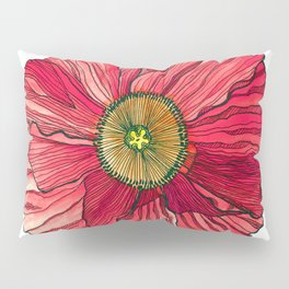 Red Poppy Pillow Sham