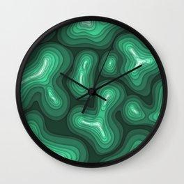 Green Topography Wall Clock