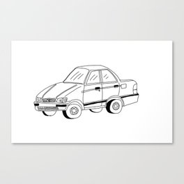 My Friends' Cars - Tercel Canvas Print