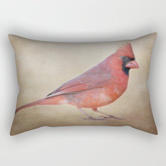 The Red Cardinal Rectangular Pillow