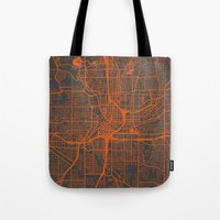 atlanta Tote Bags featuring Atlanta map by Map Map Maps