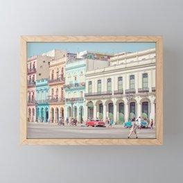 Street Life - Havana Cuba Travel Photography Framed Mini Art Print
