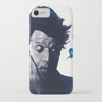 tom waits iPhone & iPod Cases featuring Tom Waits - Blue Valentines by Brad Collins Art & Illustration