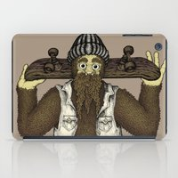 skate iPad Cases featuring Skate Squatch by Amanda James