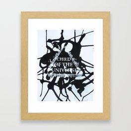 Child of the Universe  Framed Art Print