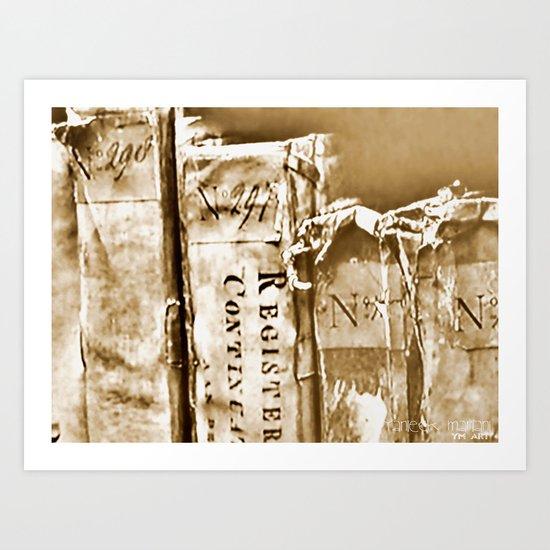 Faded Books Art Print