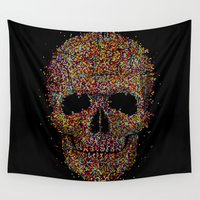 deadmau5 Wall Tapestries featuring Acid Skull by Sitchko Igor