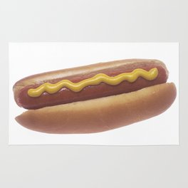 Hot Dog with Mustard Rug