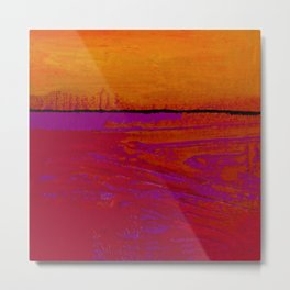 Square Abstract No. 8B by Kathy Morton Stanion Metal Print