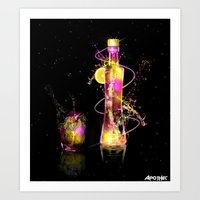 vodka Art Prints featuring Vodka Illustration by Apothec