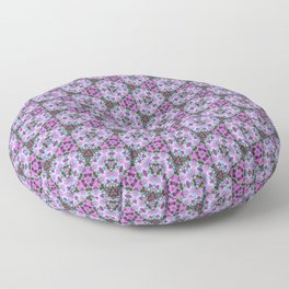 Riverside Fireweed patterned Floor Pillow