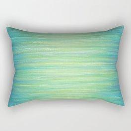 Ombre Aqua Bliss painting Rectangular Pillow