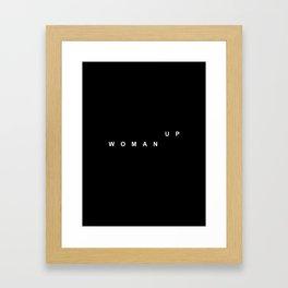 WOMAN UP Framed Art Print