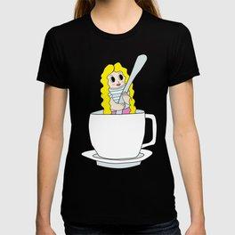 Biondina at coffee time T-shirt