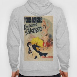 Folies Berg Res Emilienne D Alen On 1900 By Jules Cheret | Reproduction Art Nouveau Hoody