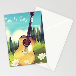 Take it Easy guitar poster. Stationery Cards