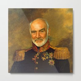 Sir Sean Connery - replaceface Metal Print