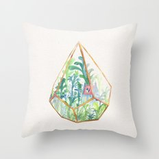 Terrarium II Throw Pillow