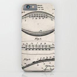 Football Patent - American Football Art - Antique iPhone Case