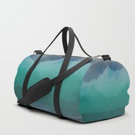 Ombre Mountainscape (Blue, Aqua) Duffle Bag