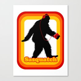 Retro Sasquatch Canvas Print