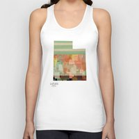 utah Tank Tops featuring Utah state map by bri.buckley