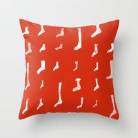socks Throw Pillows featuring Socks by Phie Hackett
