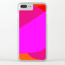 PINK WHALE Clear iPhone Case