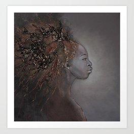Ritratto di profilo Art Print