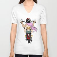 harley V-neck T-shirts featuring Harley by Natalie Easton