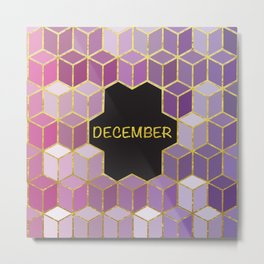 Cubes Of December Metal Print