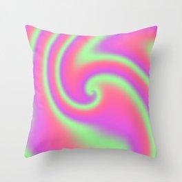 Tutti Frutti Ribbon Candy Fractal Throw Pillow