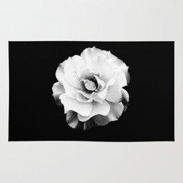 Black and White Rose Blossom... Rug
