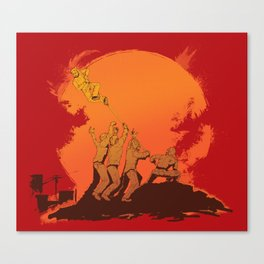 The Rise of the Zombie Apocalypse  Canvas Print