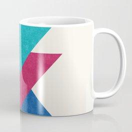 Geometric Blocks in Blue Coffee Mug