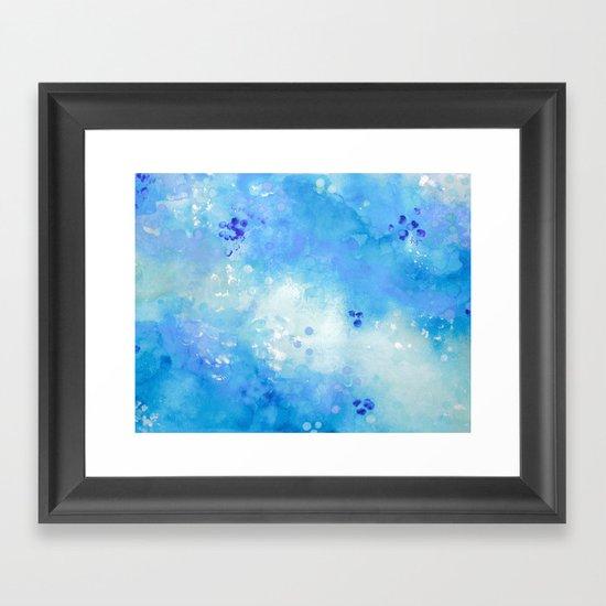 Serenity Blue Framed Art Print