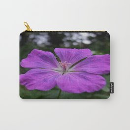 Violet Viola Flower With Garden Background  Carry-All Pouch