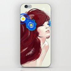 Blue flower. iPhone & iPod Skin