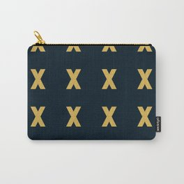 Kiss grid pattern Carry-All Pouch