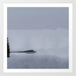 Fog Lake Art Print