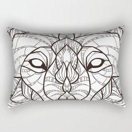 Geometric Wolf Rectangular Pillow
