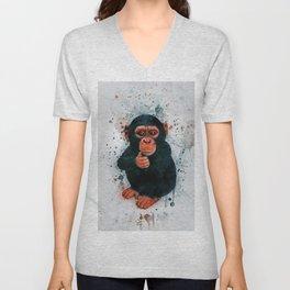 Baby Chimpanzee Unisex V-Neck