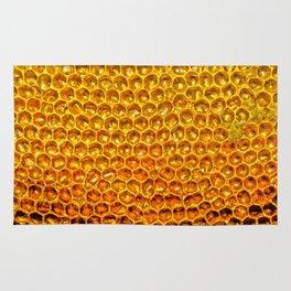 Yellow honey bees comb Rug
