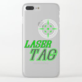Funny Laser Tag Party T-Shirt Mode On Laser tag Clear iPhone Case