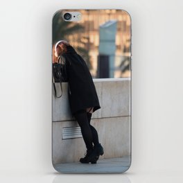 A girl in the city. iPhone Skin