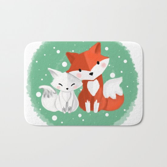 Foxy friends Bath Mat